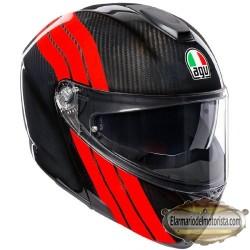 Agv Sport Modular Stripes Carbon Red