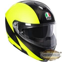 Agv Sport Modular Hi Vis Carbon Yellow