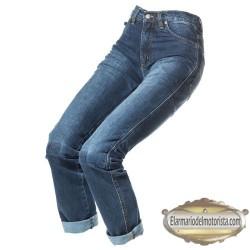 Pantalon By City Tejano Azul Lady